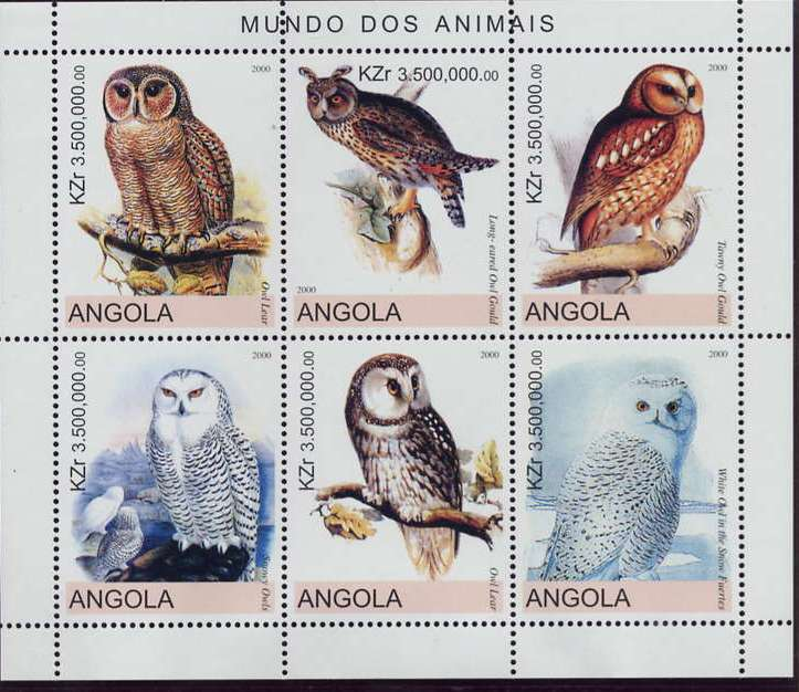 owl bogus stamps angola